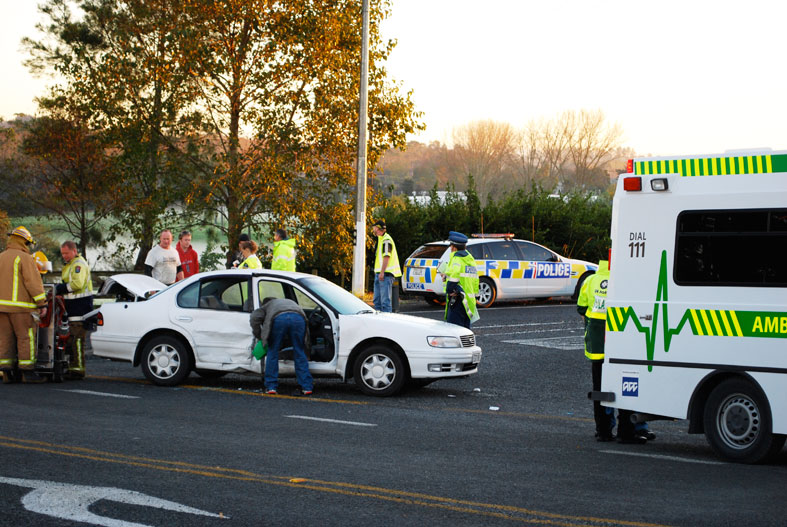 Two-car smash on SH17 in Rodney.